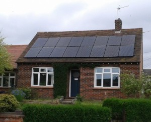 Black Solar PV Panel Installations  - Rushden, Bedfordshire
