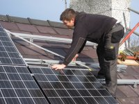 Installing the PV panels