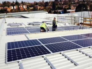 Commercial Rooftop Solar instllation
